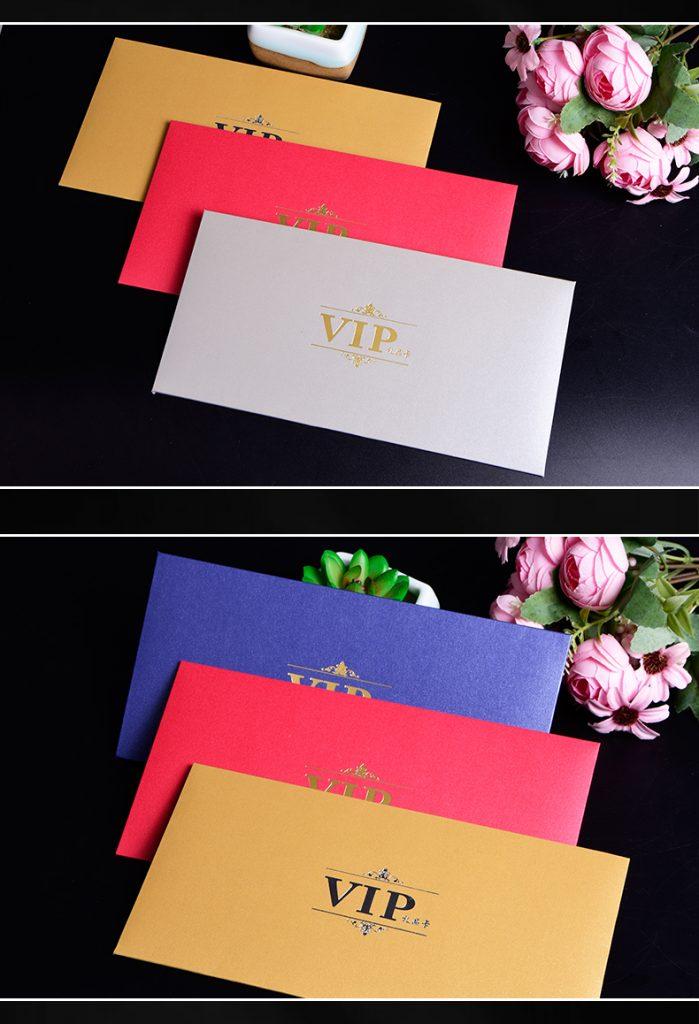 特种纸烫印礼品卡套 信封式卡套